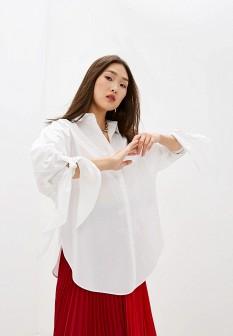 Белая осенняя блузка Escada Sport