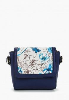 Женская синяя итальянская кожаная сумка
