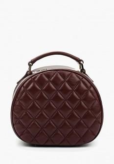 Женская бордовая кожаная сумка
