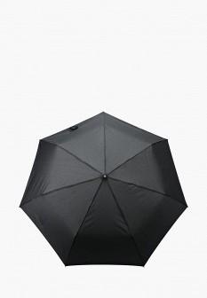 Мужской черный складной зонт