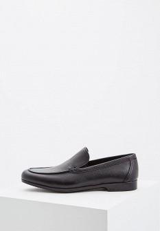 Мужские черные осенние итальянские кожаные мокасины