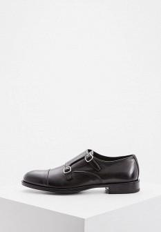 Мужские черные итальянские осенние кожаные туфли