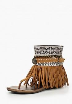 Женские коричневые сандалии Fersini