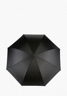 Женский черный осенний зонт трость