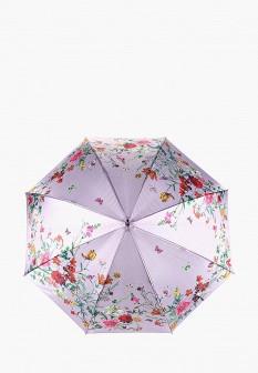 Женский фиолетовый зонт трость