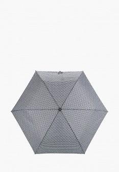 Женский серый осенний складной зонт