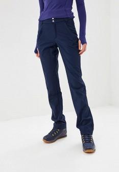 Женские синие осенние утепленные брюки