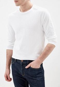 Мужской белый осенний лонгслив