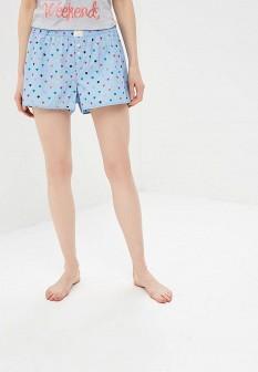 Женские голубые осенние шорты
