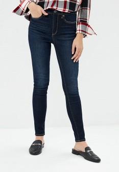 Женские синие осенние джинсы скинни