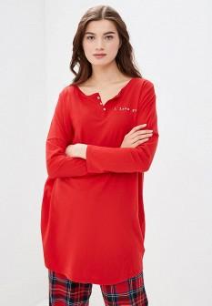 Женский красный осенний лонгслив