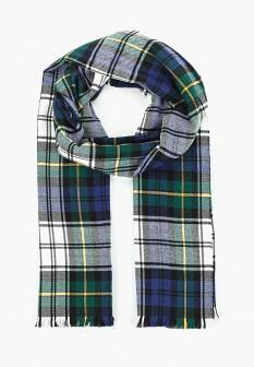 Мужской зеленый осенний шарф