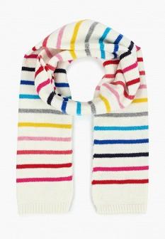 Женский белый осенний шарф