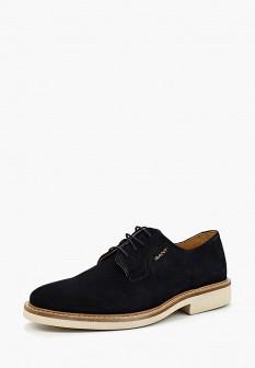Мужские синие осенние туфли