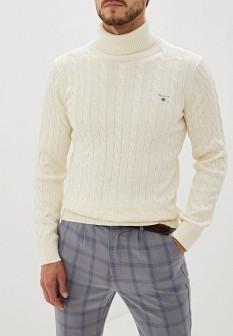 Мужской белый осенний свитер