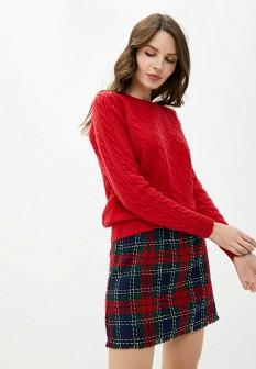 Женский красный осенний джемпер