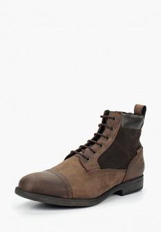 Мужские коричневые осенние кожаные ботинки из нубука