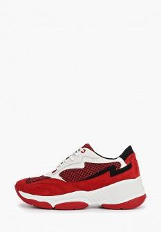 Женские красные осенние кроссовки