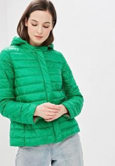 Женский зеленый осенний пуховик