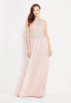 Розовое осеннее платье