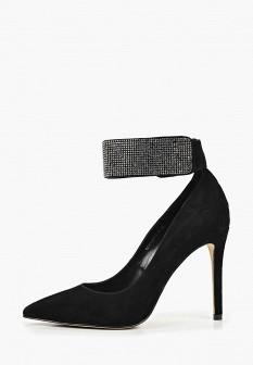 Женские черные туфли на каблуке