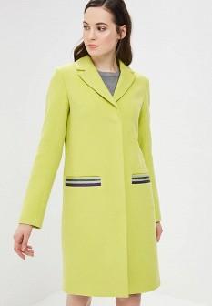 Женское зеленое осеннее пальто