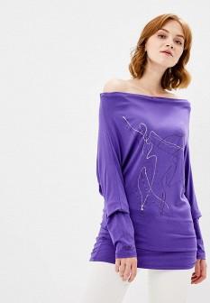 Женский фиолетовый осенний джемпер