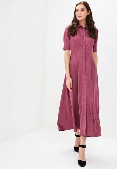Бордовое осеннее платье