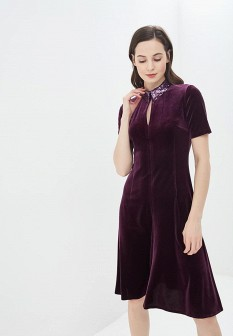 Фиолетовое осеннее платье Gregory