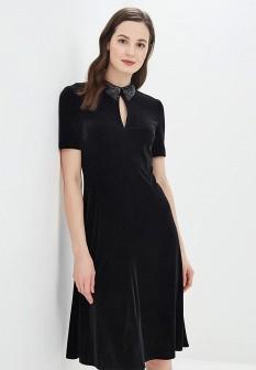 Черное осеннее платье Gregory