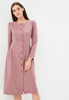 Розовое осеннее платье Gregory
