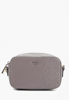 Женская серая кожаная сумка GUESS