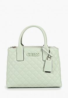 Женская зеленая кожаная сумка