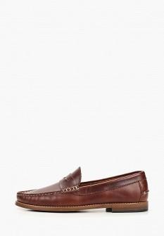 Мужские коричневые испанские кожаные туфли лоферы