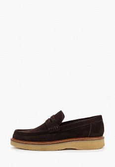 Мужские коричневые осенние туфли лоферы
