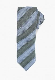 Мужской зеленый итальянский галстук