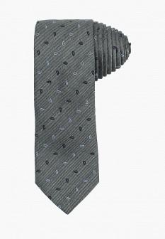 Мужской серый итальянский галстук