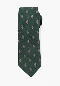 Мужской зеленый осенний галстук
