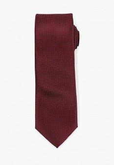 Мужской бордовый осенний галстук