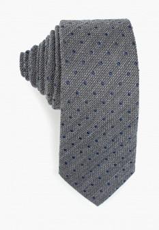 Мужской серый осенний галстук