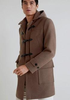 Мужское коричневое пальто