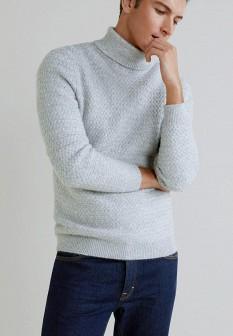 Мужской серый свитер MANGO MAN