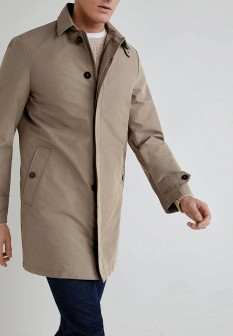 Мужское бежевое пальто MANGO MAN