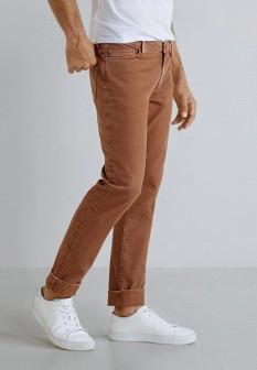Мужские коричневые брюки MANGO MAN