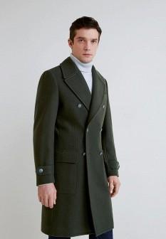 Мужское зеленое пальто