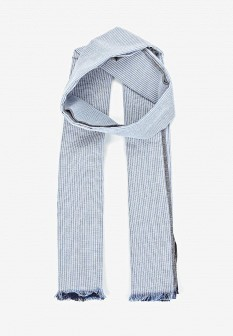 Мужской синий осенний шарф MANGO MAN