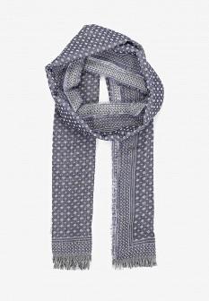 Мужской голубой осенний шарф