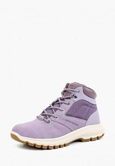 Женские фиолетовые осенние ботинки из нубука