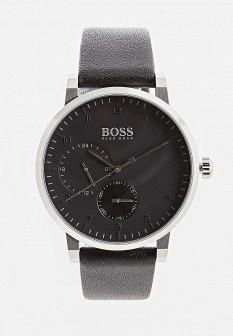 Мужские черные часы HUGO BOSS