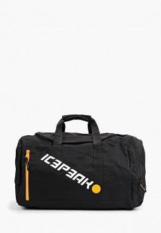 Мужская черная осенняя спортивная сумка